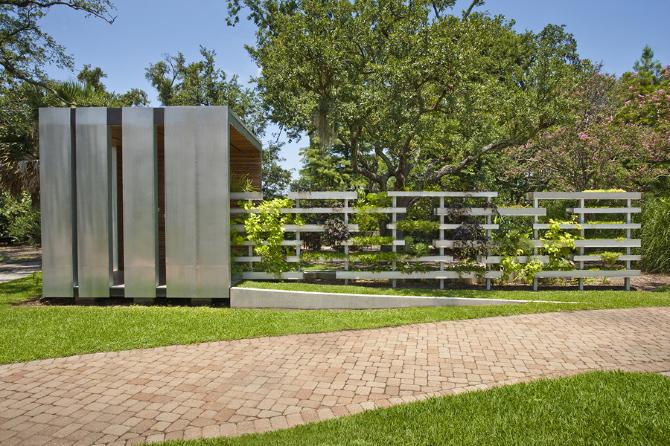 Eco pavilion colectivo for Garden pavilion crossword clue