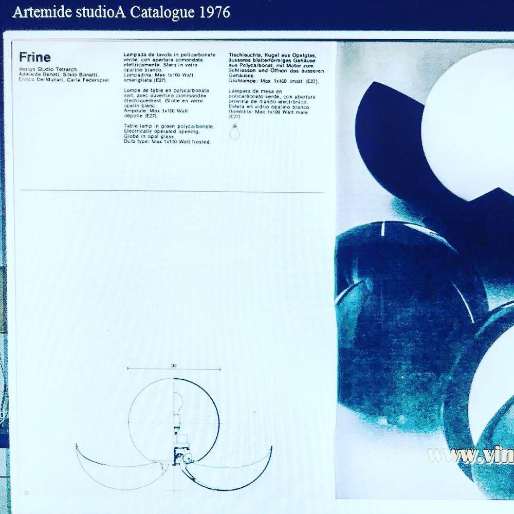 """Lampada Da Studio Design very rare iconic table lamp """"frine"""" by studio tetrarch for"""