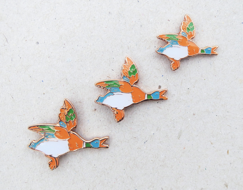 Flying Duck Lapel Pin