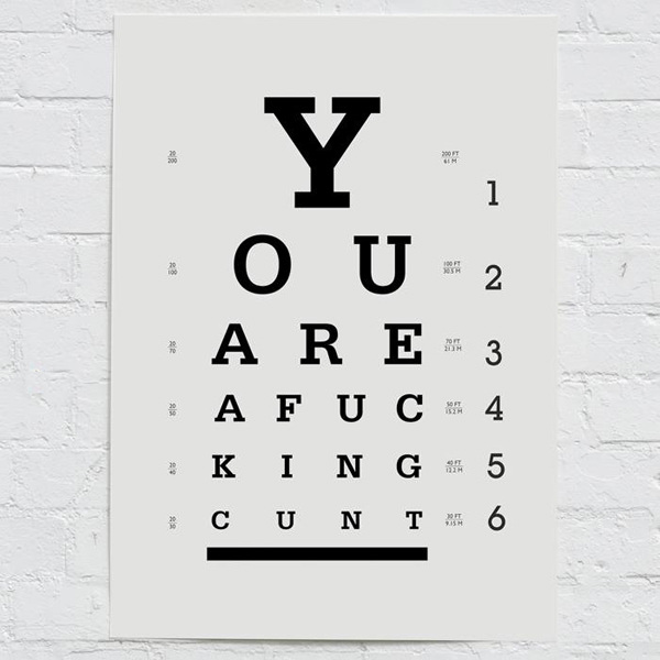 graphic regarding Eye Chart Printable known as EYE-CHART Print -
