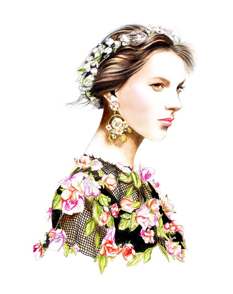 6d0b8403d8 Dolce   Gabbana S S 2014 for Swide - LIDIA LUNA ILLUSTRATION