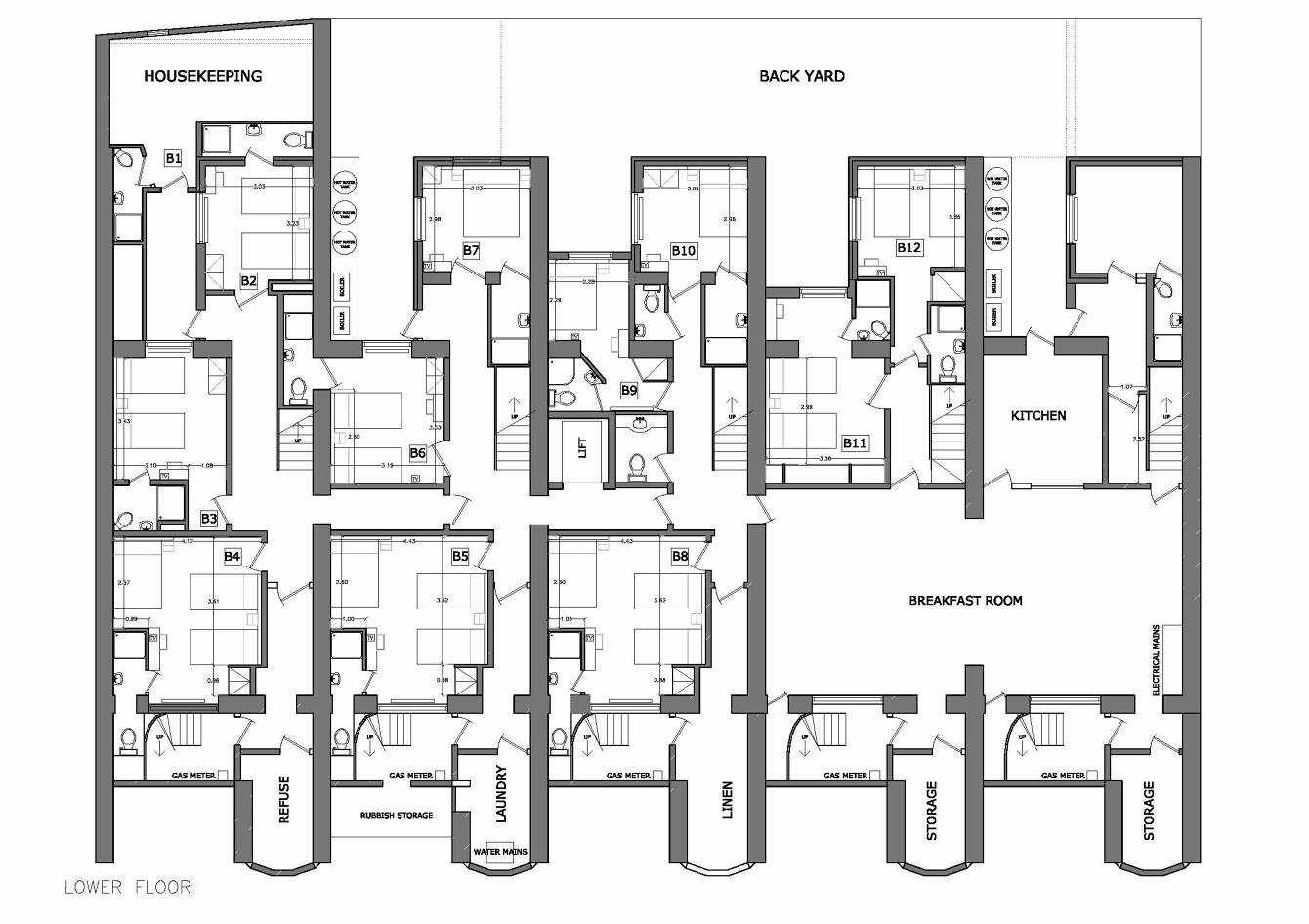 London House Hotel - archithoughts on old victorian house floor plans, 19th century mansion floor plans, 18 century victorian house plans,