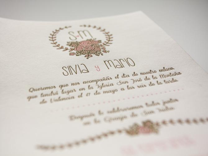 Invitación De Boda En Valencia En Letterpress Obsolete
