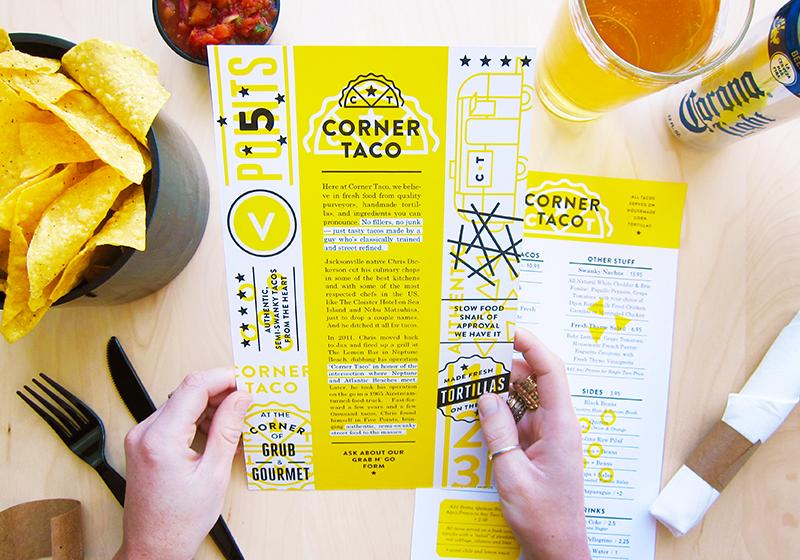 taco identity menu caitlin robinson designer