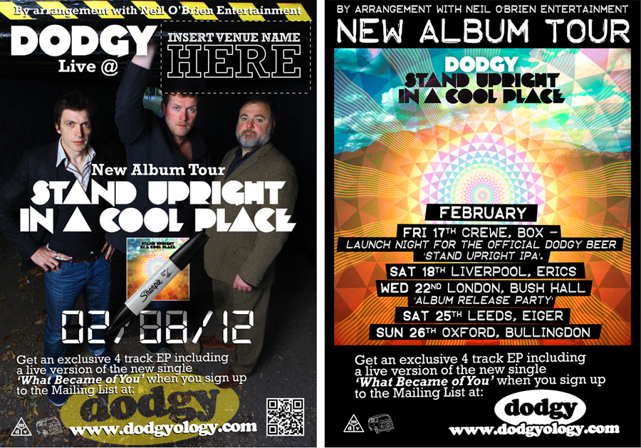 Dodgy - 'Stand Upright' New Album Tour Posters - Russell