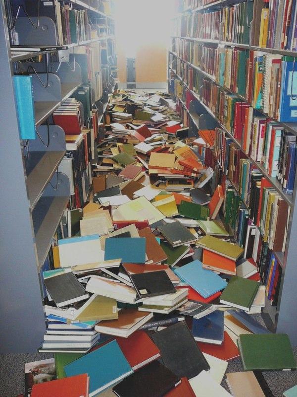 fallen books