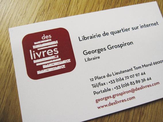Cration Du Logotype Deslivres Librairie En Ligne Dclinaison Sur Papier Tte Marque Page Cartes De Visite Site Web