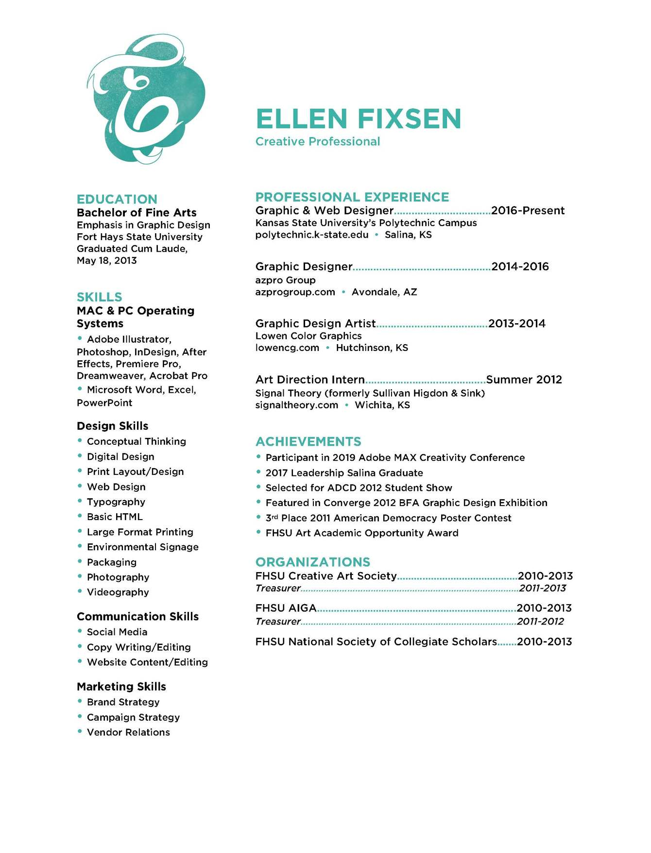 Education Experience Ellen Fixsen
