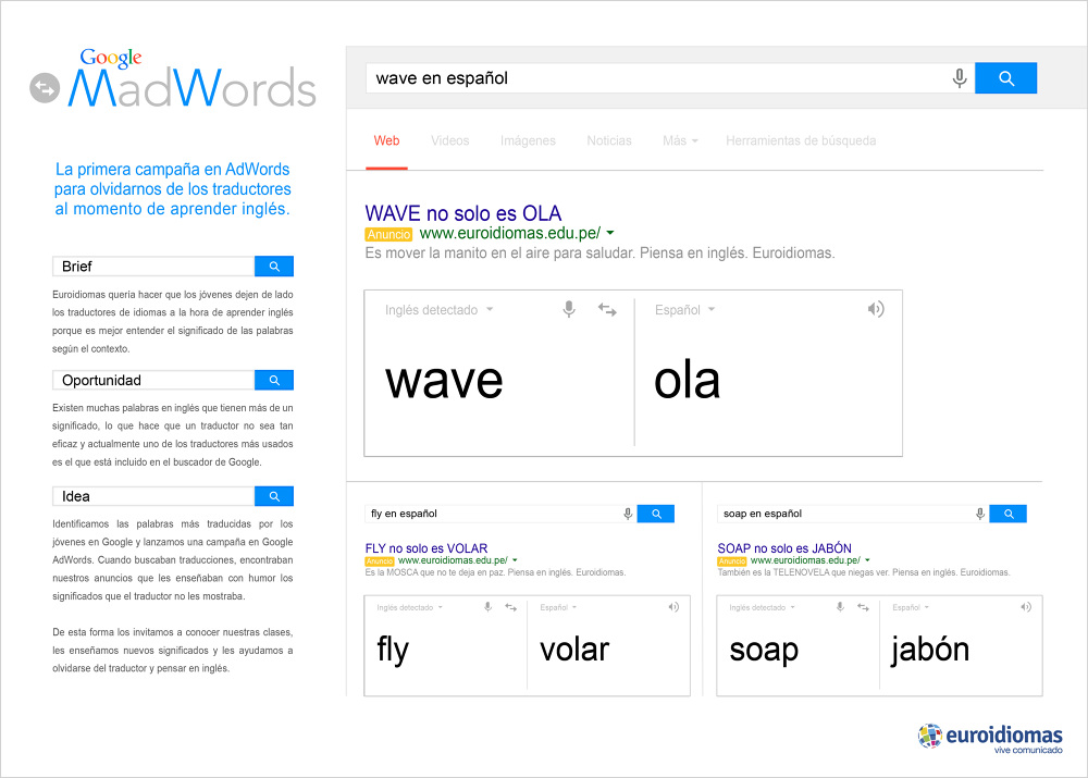 Euroidiomas - Google MadWords - Romy Domínguez