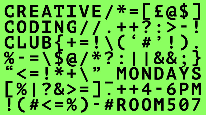 another year for creative coding club graphic design ravensbourne