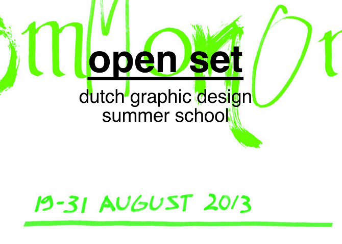 Second year students go to Open Set - Dutch graphic design