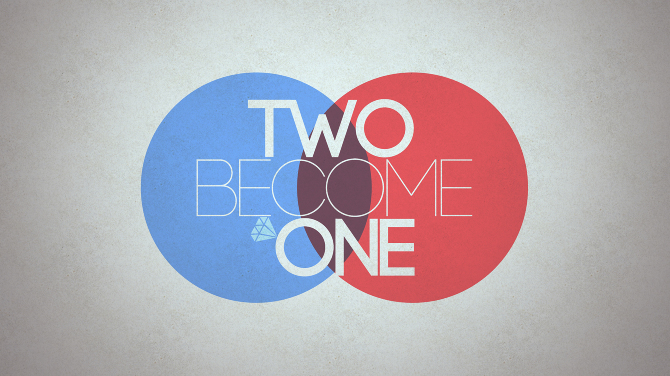 Two becomes one