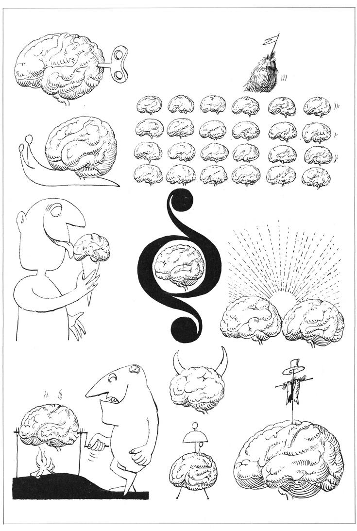 Satirical drawing cartoon stane jagodič