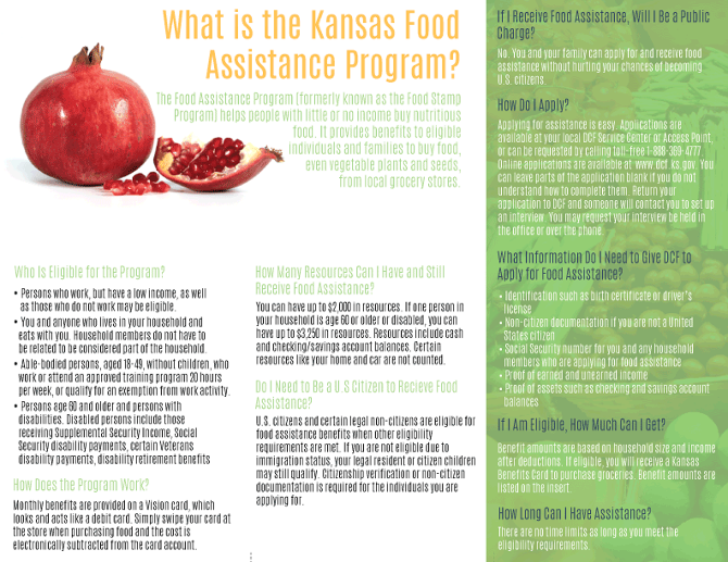 DCF Kansas Food Assistance Brochure