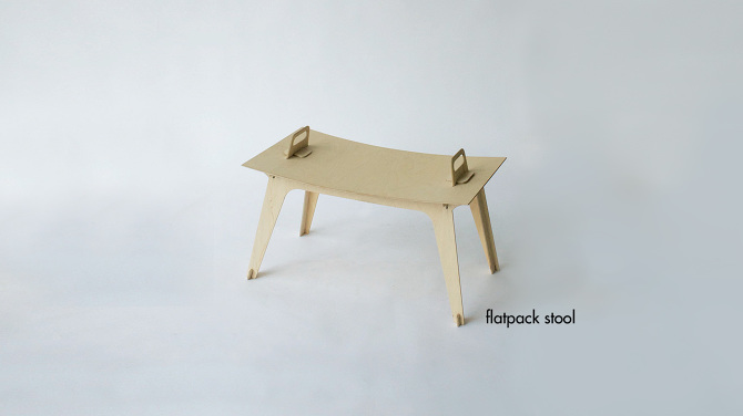 Magnificent Flatpack Stool Markowitzdesign Personal Network Theyellowbook Wood Chair Design Ideas Theyellowbookinfo
