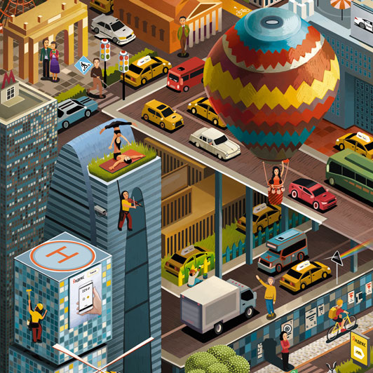 Yandex Taxi - Andrew Lebedinsky   Illustrator