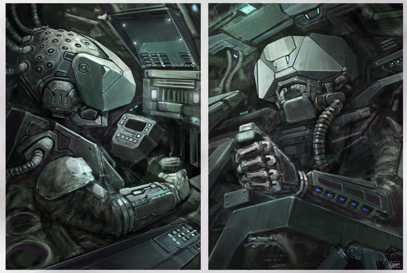 Sci Fi Console Concept Art