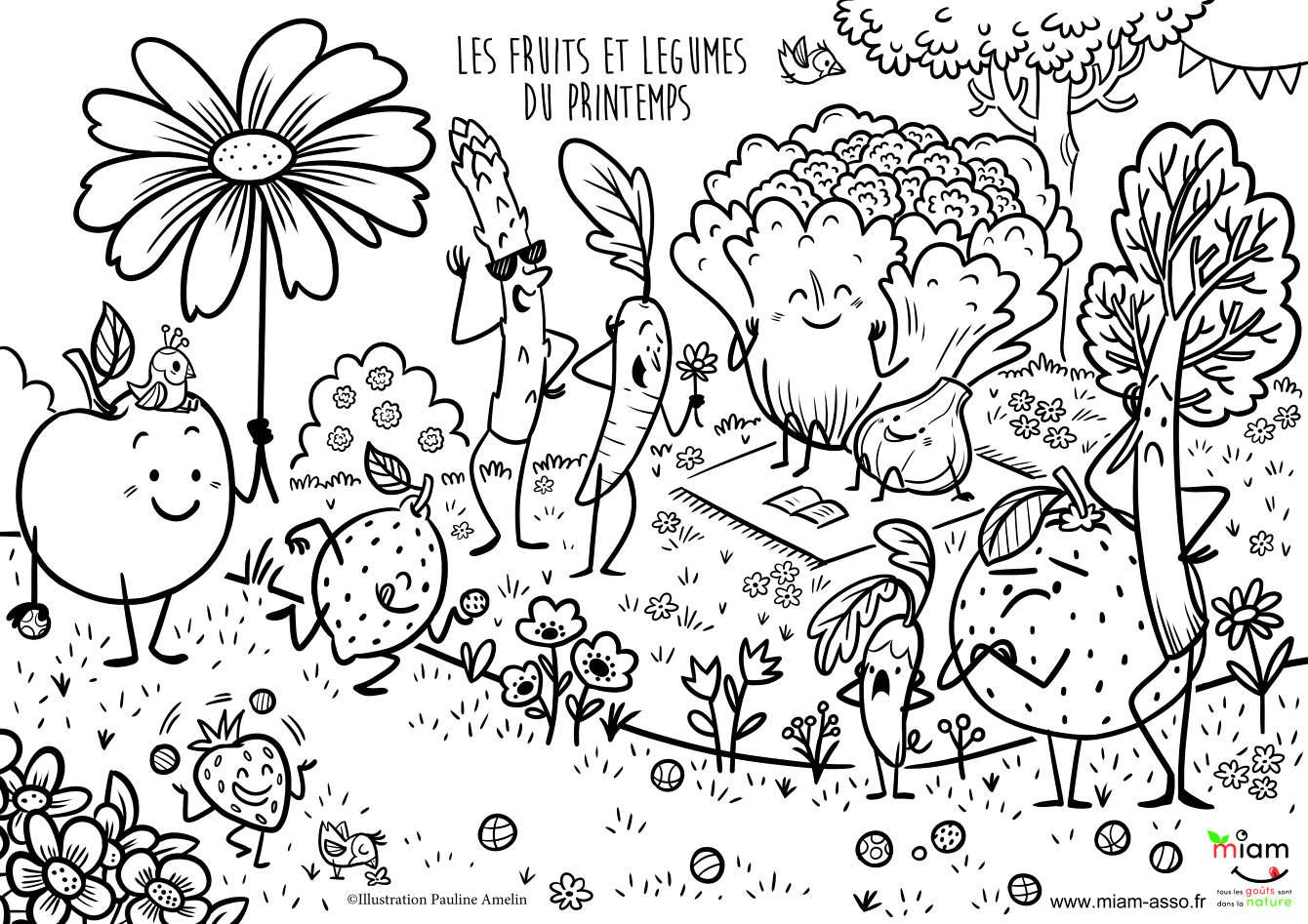 Coloriage Saison Printemps.Ateliers Jeux Pour Enfants Pauline Amelin