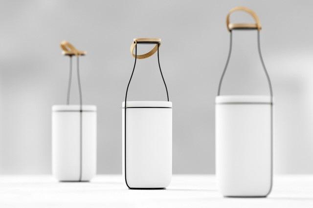 Lampada Origami Di Edward Chew : Design lampada mu design ispirato alla bottiglia di latte