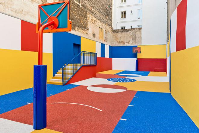 CULTURA  Il campo da basket ispirato all arte di Malevich - Osso ... 59a28e065baa