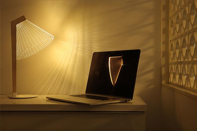Lampada Origami Di Edward Chew : Design lampade bidimensionali studio cheha osso magazine