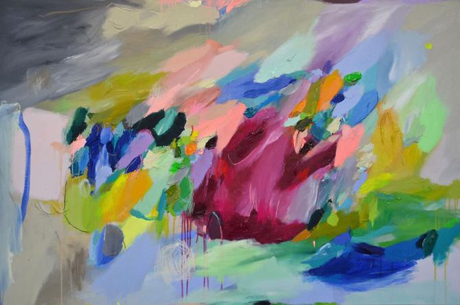 ARTE: I dipinti astratti di Laelie Berzon - Osso Magazine