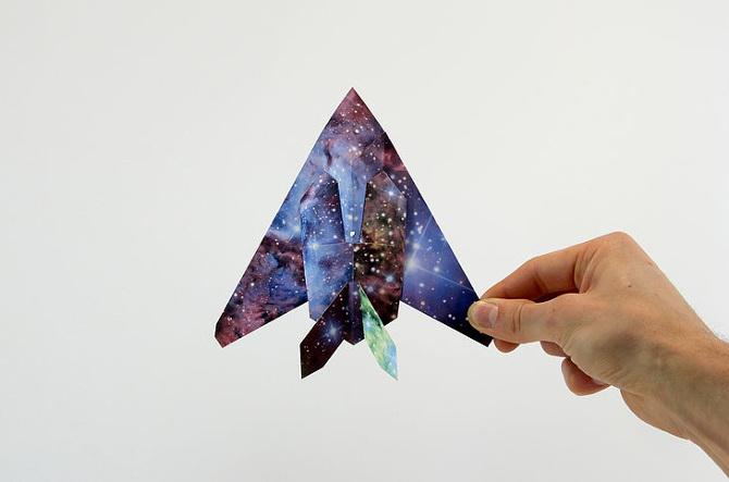 Lampada Origami Di Edward Chew : Grafica paper planes gli origami fai da te osso magazine