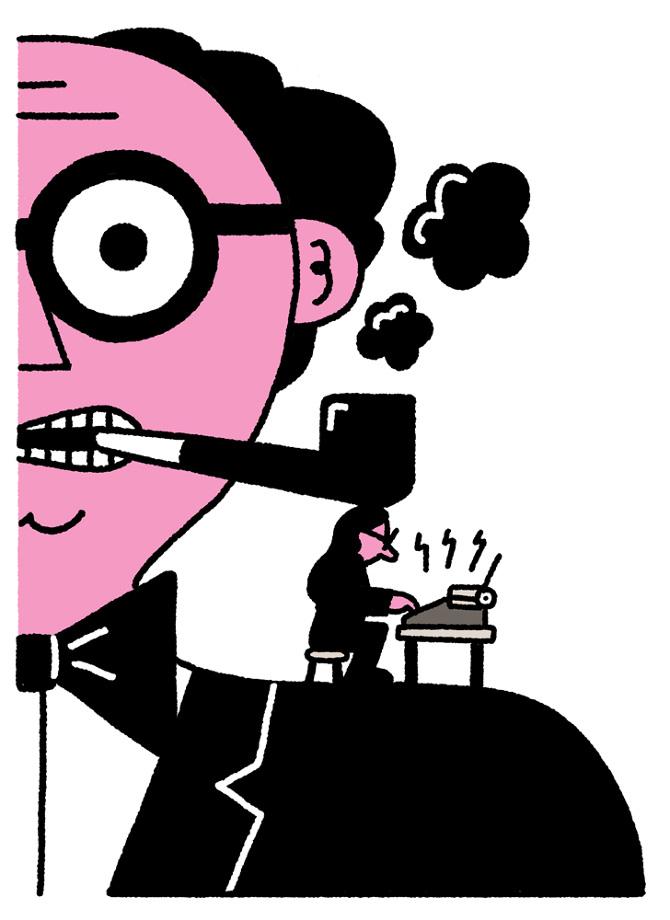 Illustrazione Lumorismo Originale Nelle Vignette Di Leon Edler