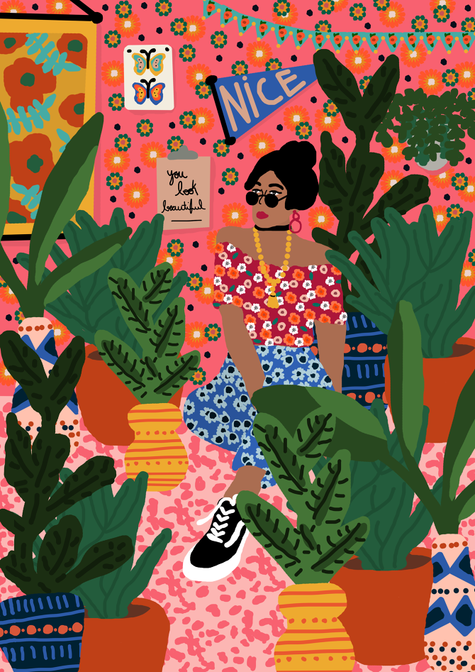 ILLUSTRAZIONI  I pattern floreali di Rafaela Mascaro - Osso Magazine b508b3e7fee