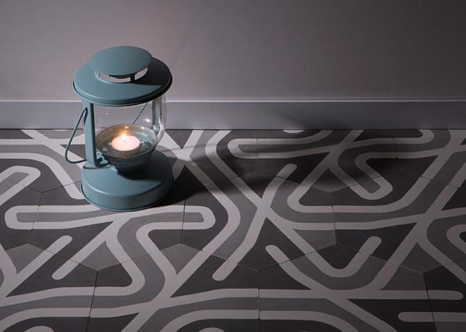 Design le piastrelle esagonali di laselva incastri perfetti