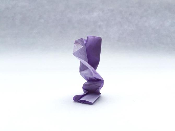 Lampada Origami Di Edward Chew : Arte gli origami stropicciati di keiko mori kilo osso magazine