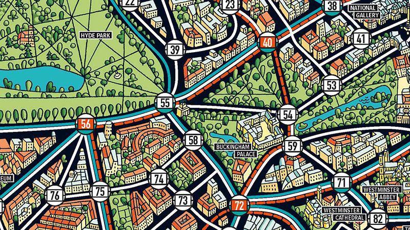 Scotland Yard Spielplan