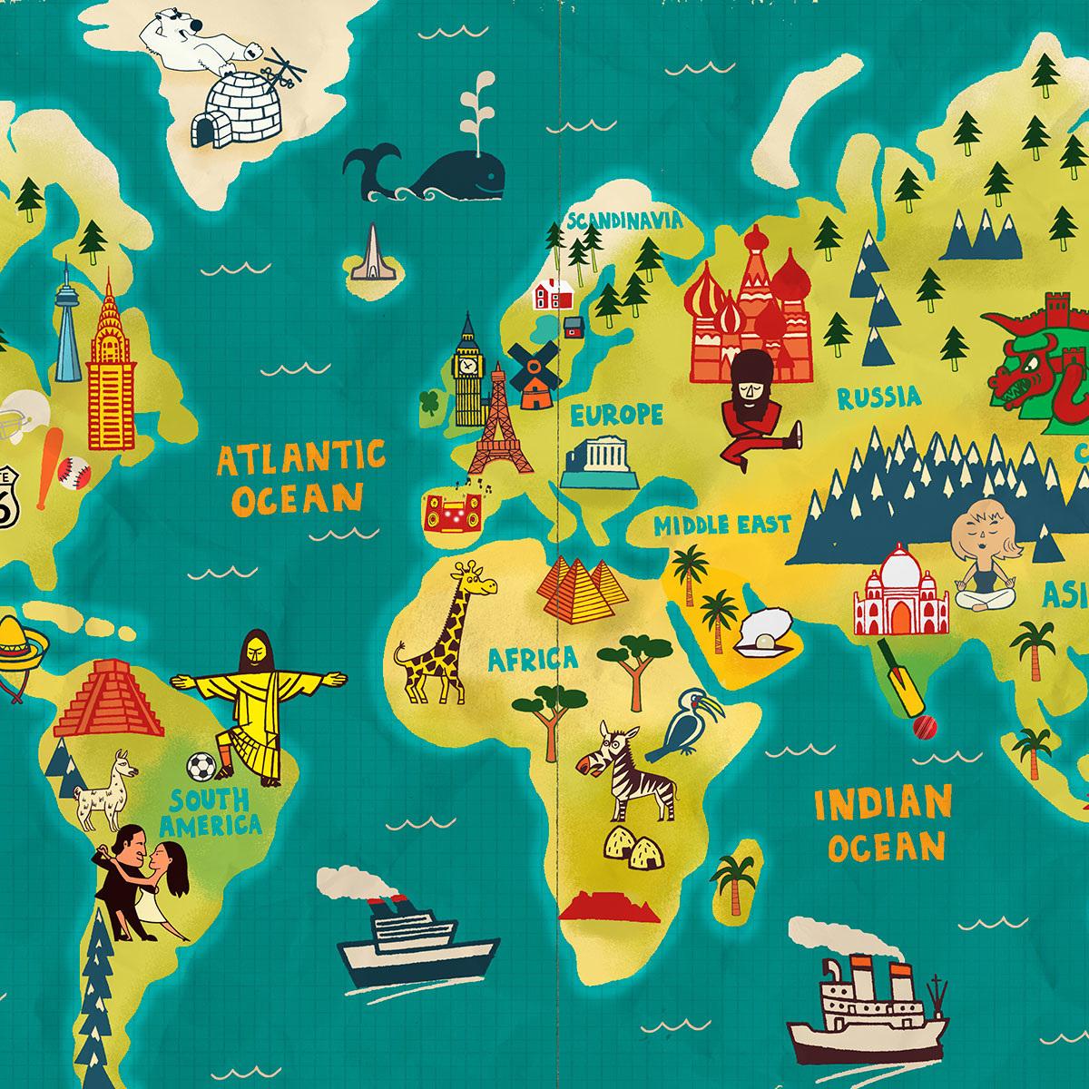 Открытка марта, картинки прикольные карта мира
