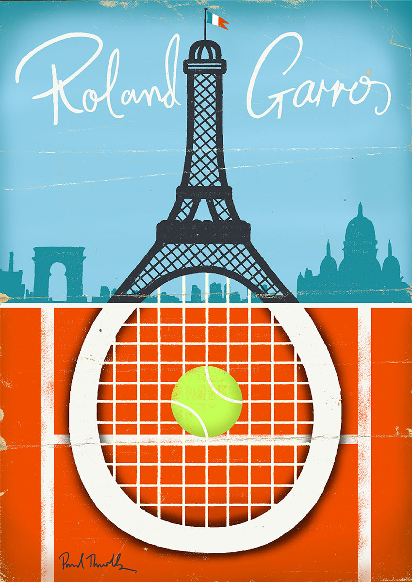 Tennis Posters Paul Thurlby