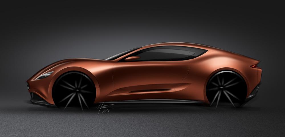 Car 52 Aston Martin 1125 Sketch