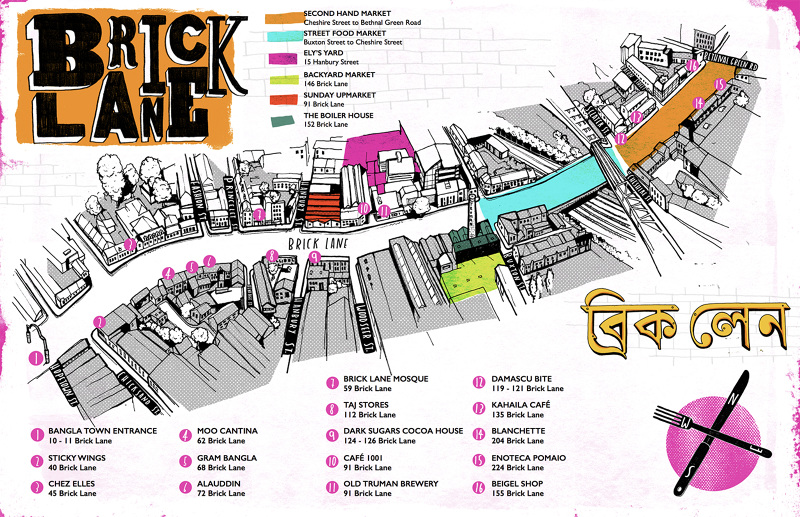 Brick Lane Map Brick Lane Map   Want Some Studio   Edinburgh based Illustrator  Brick Lane Map