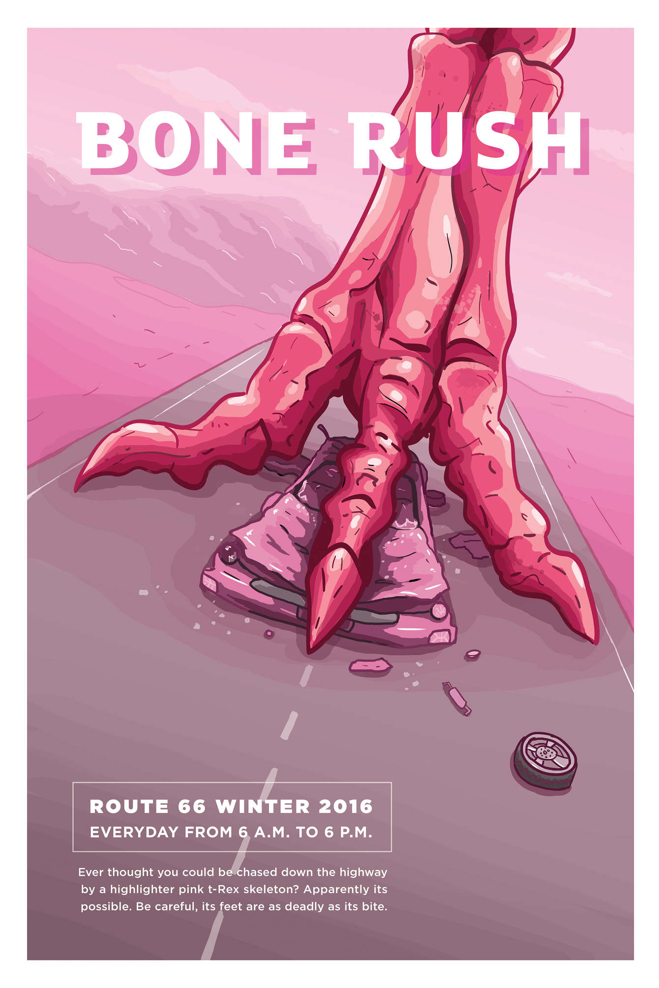 fictional event posters em design and illustration