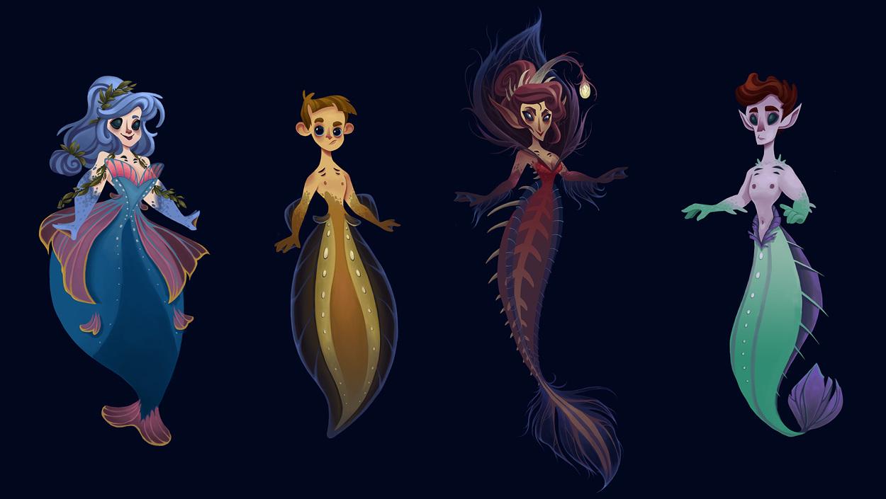 Deep Sea Mermaids - Megan Fisher Illustration