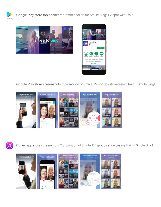 Cross Promotional Marketing Campaign for Smule TV Spot: Sing