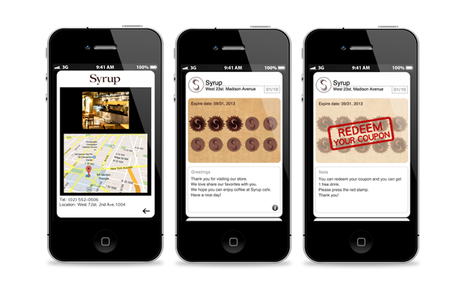 Syrup Is A Mobile Stamp Card That Allows Users To Conveniently Manage Their Loyalty Stamps From Favorite Local Coffee Shops And Franchises