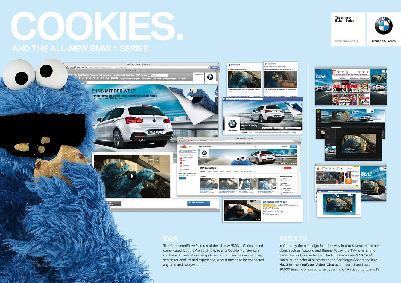 BMW Germany | BMW 1 Series - Cookie Monster Online Campaign
