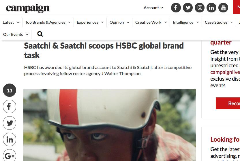 HSBC / Global brand - MARK SLACK