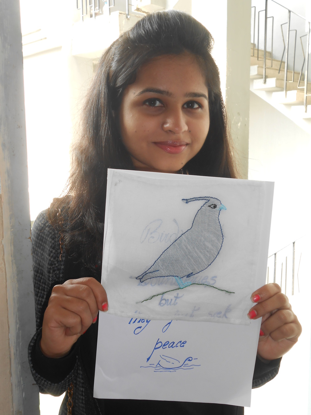 Apee Jay College Of Fine Arts India Thread Art Project