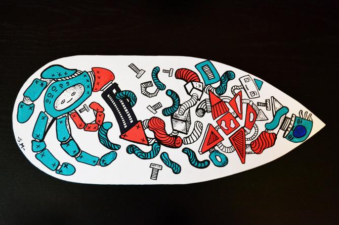 Custom Skate Decks - Sam Marsh Illustration & Design