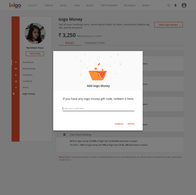 Ixigo Flights App