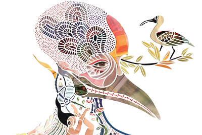 indweller  mayuko fujino paper cutout art