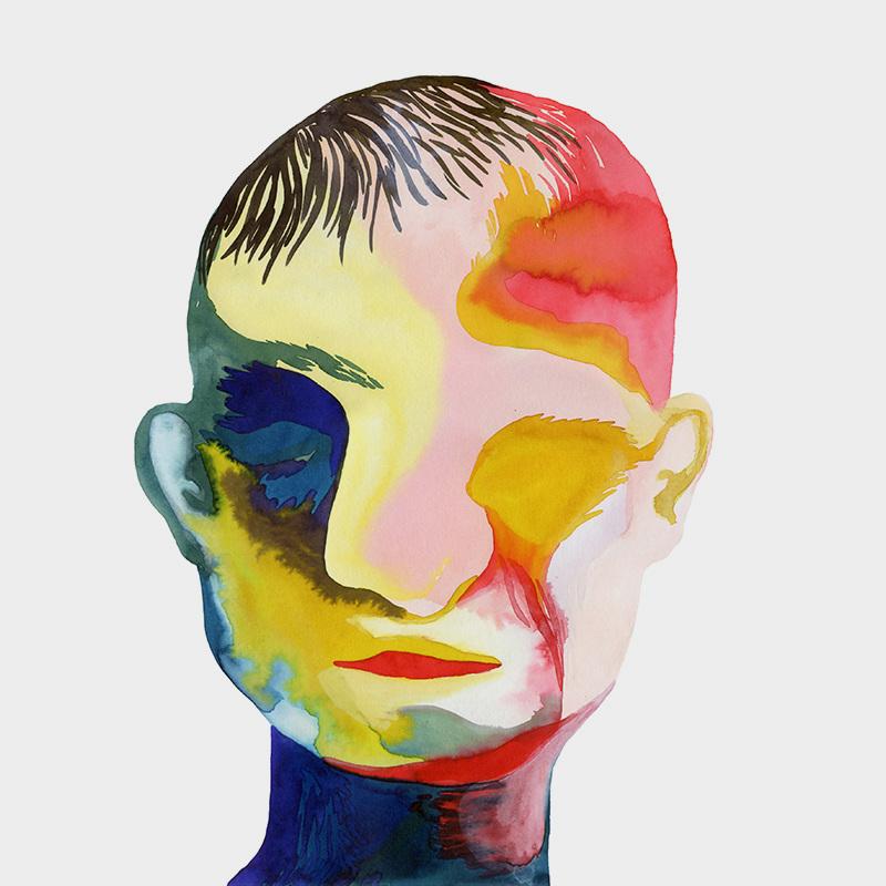 "Peinture ""Prosopagnosie"" par Louise Duneton"