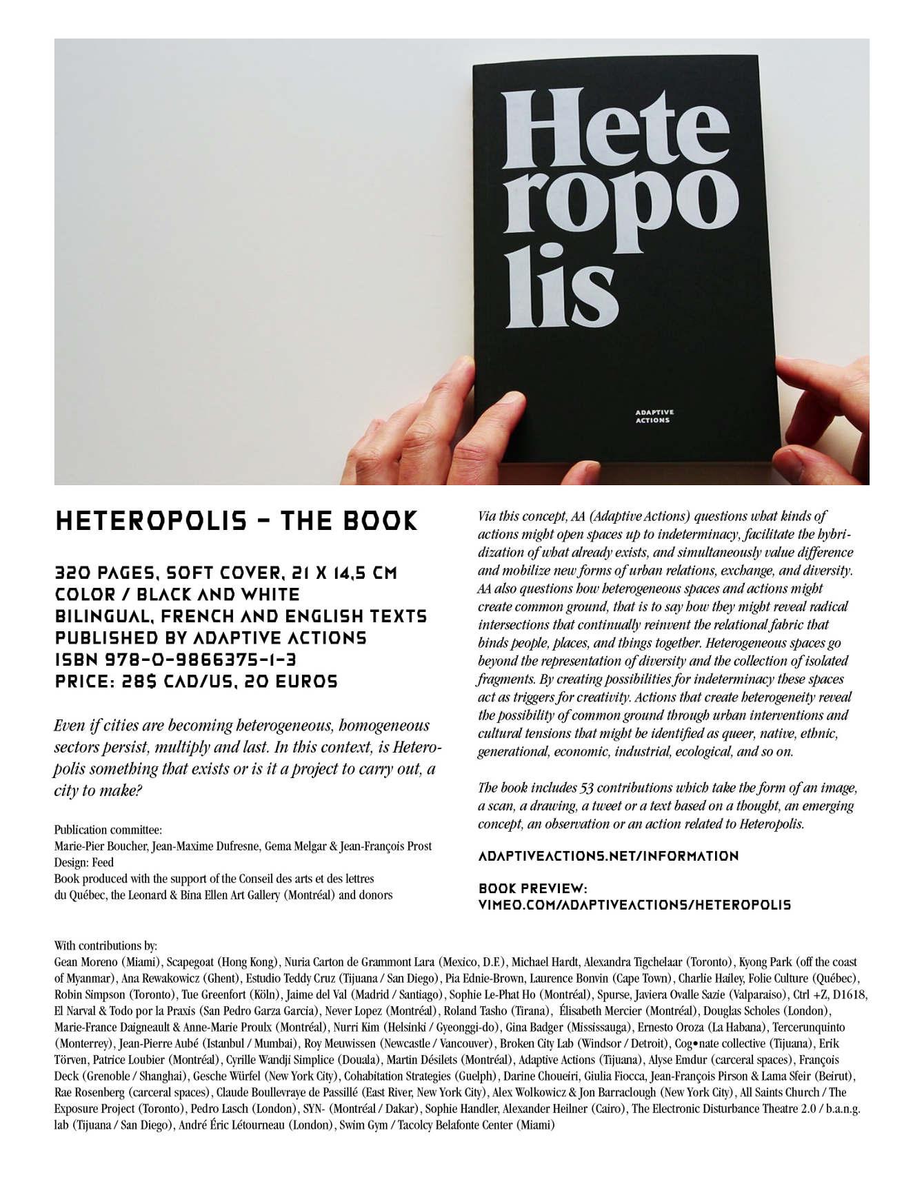 Heteropolis Le Livre The Book 2013 Jean Maxime