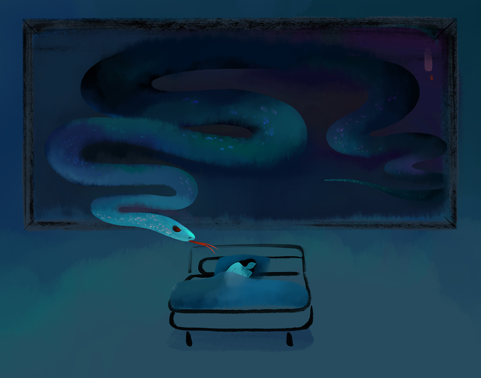 bad dreams tianhua mao illustrator