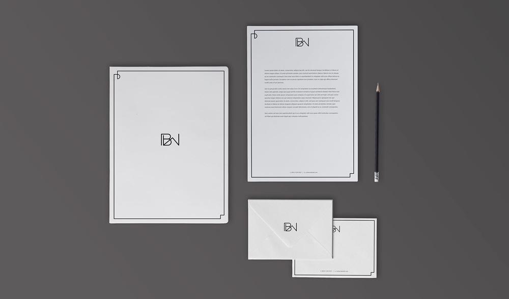 logo branding and stationery nie